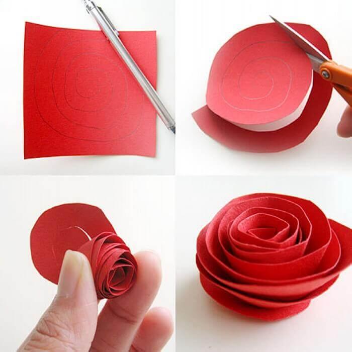 Flores de papel simples tutorial