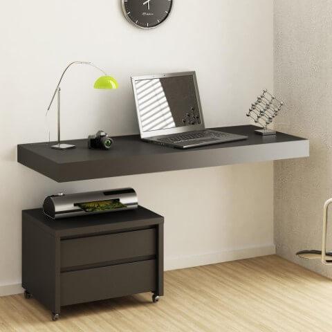 Gaveteiro baixo com impressora