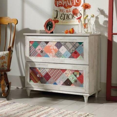 Gaveteiro estilo cômoda com gavetas personalizadas