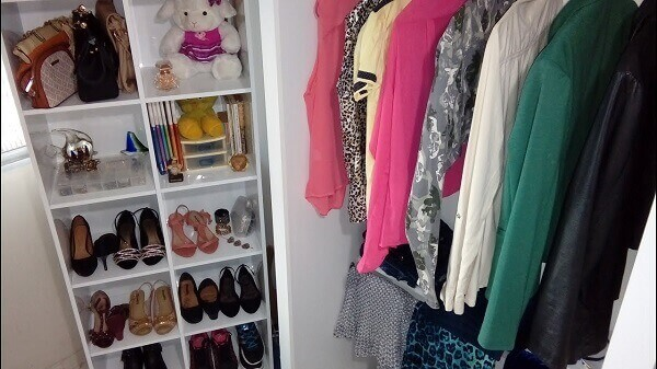 Guarda Roupa sem porta mini closet