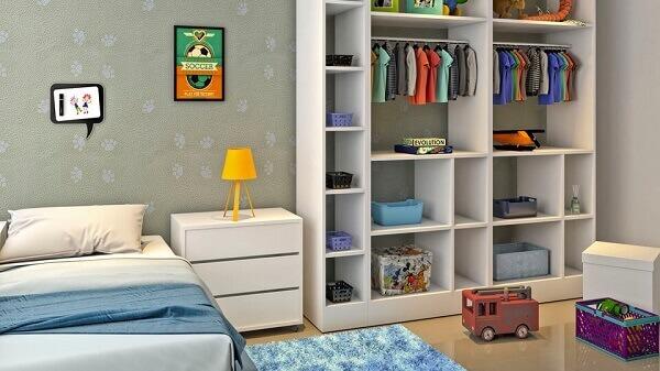 Guarda Roupa sem porta para quarto de bebê