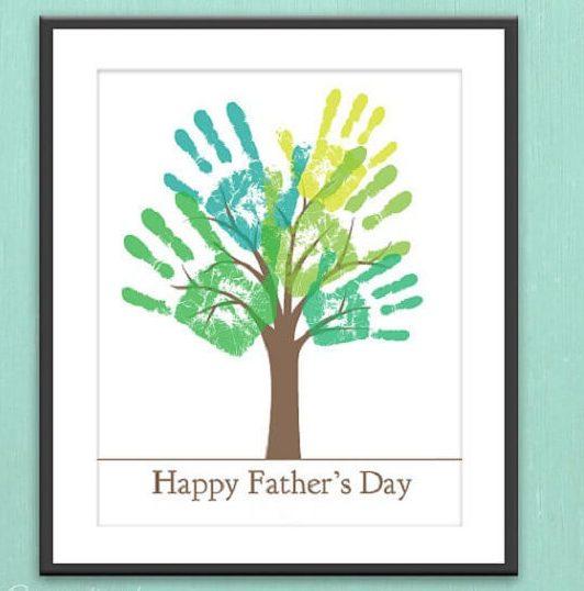 Lembrancinhas Para o Dia dos Pais quadro com pintura de mãos
