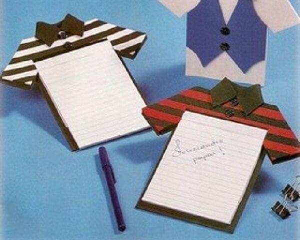 Lembrancinhas para o dia dos pais bloquinho de anotação