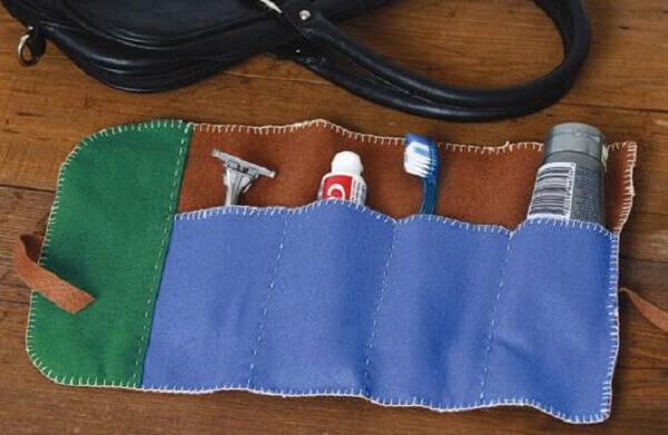 Lembrancinhas para o dia dos pais com kit higiene para viagem