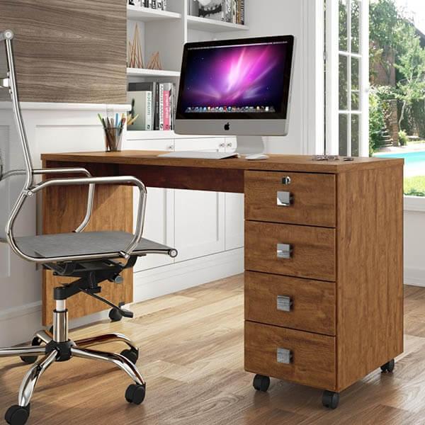 Mesa para escritório com rodinhas
