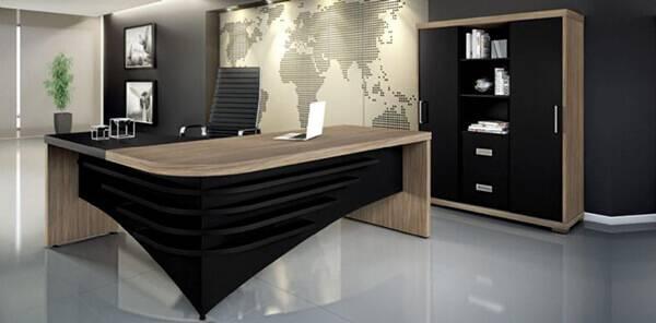 Mesa para escritório em L para diretoria