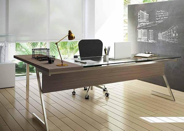 Mesa para escritório em vidro sofisticado
