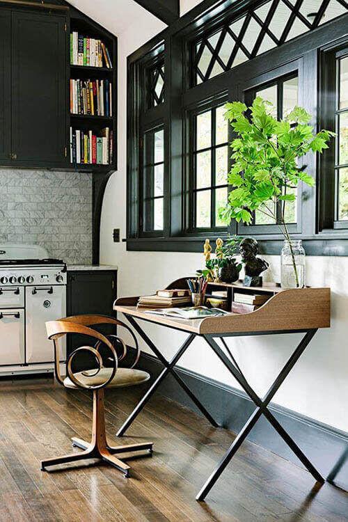 Mesa para escritório na cozinha
