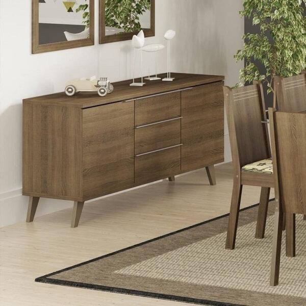 Modelo de buffet simples feito em madeira