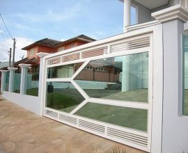 Modelo de portões com vidro de alta resistencia