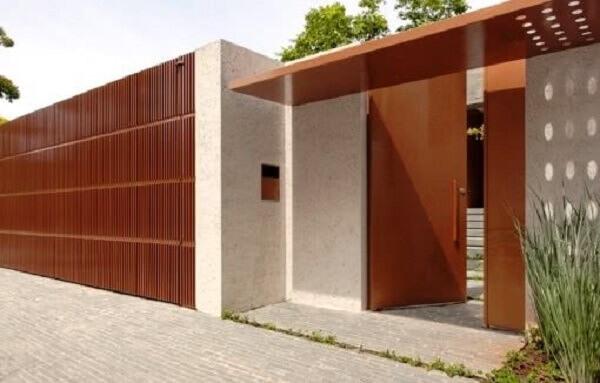 Muros de casas com detalhes