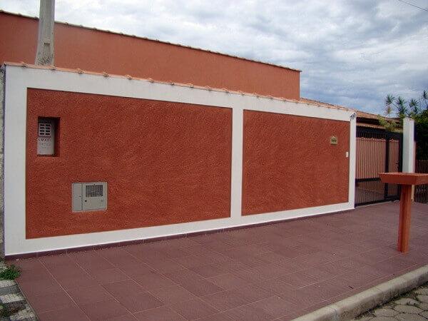 Muros de casas grandes pintadas