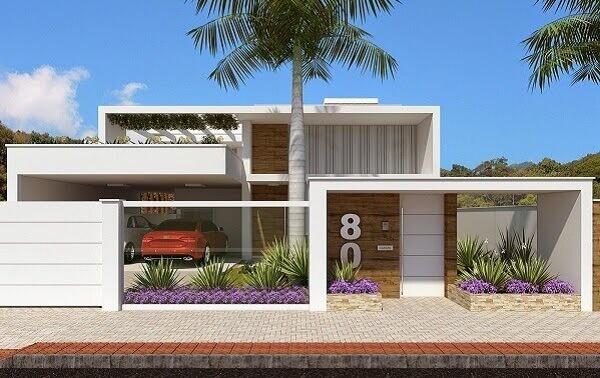 Muros de casas modernas grandes