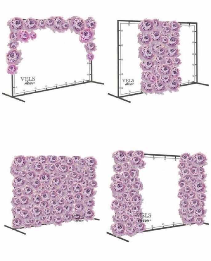 Painel de Flores formato