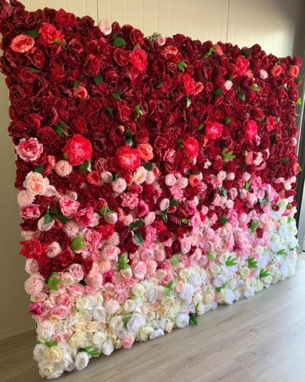 Painel de flores com degrade de cores
