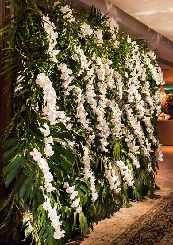 Painel de flores com orquideas