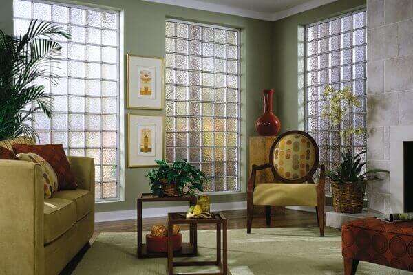 Parede de Vidro em sala de estar teia design