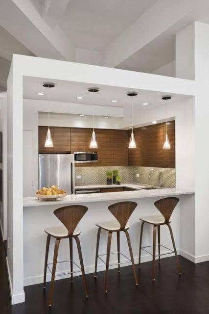 Parede de drywall vazada para cozinha americana