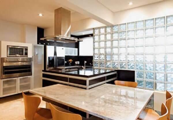 Parede de vidro para cozinha