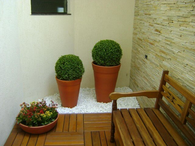 Pedras para jardim de inverno brancas Projeto de MC3 Arquitetura