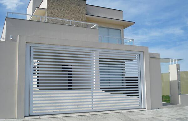 Portão de alumínio para residencia
