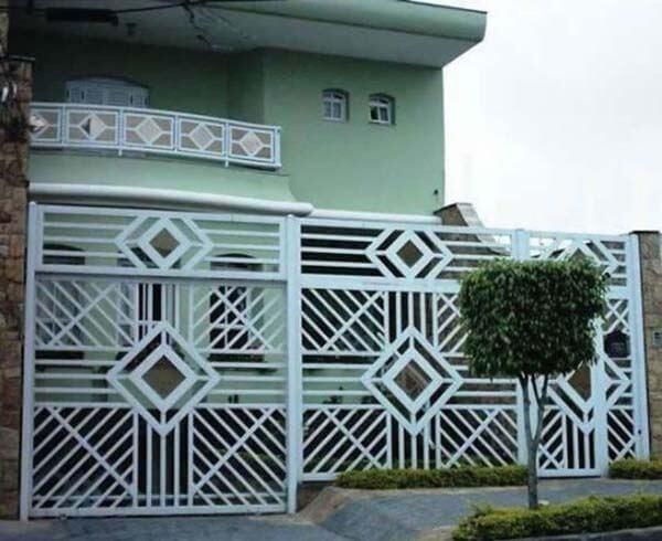 Portão de alumínio para sobrado