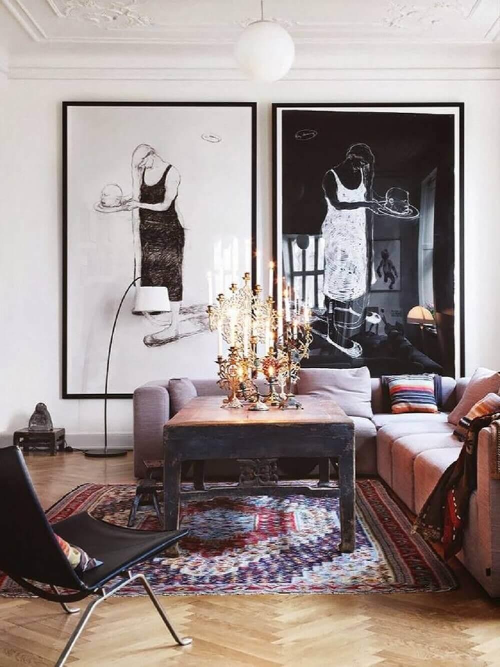Quadros grandes para sala de estar