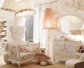 Quarto de bebê menina com decoração de ursinhos Projeto de Graziela