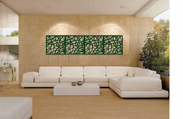 Salas modernas com sofá branco