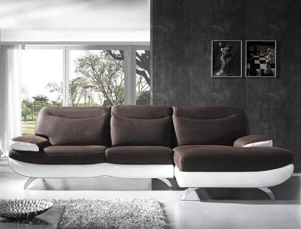 Salas modernas com sofa e chaise