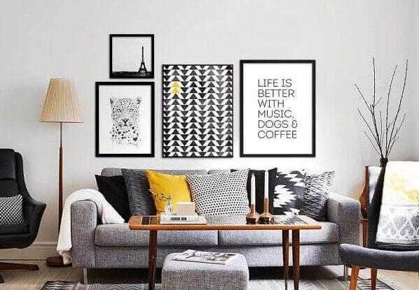 Salas modernas diversos quadros