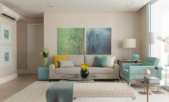 Salas modernas dois quadros