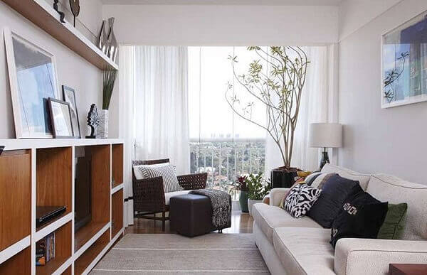 Salas modernas pequena