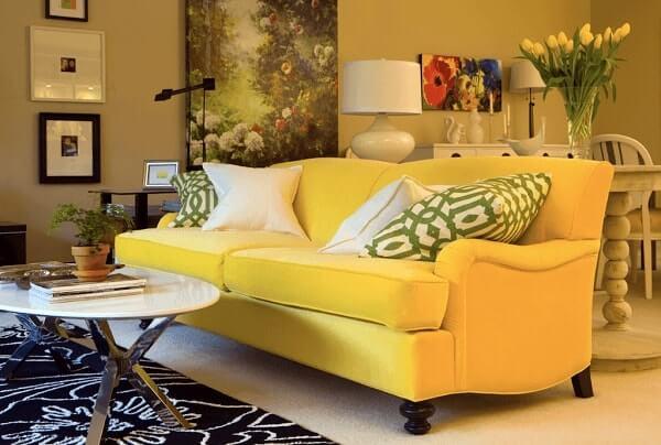 Salas modernas sofá amarelo