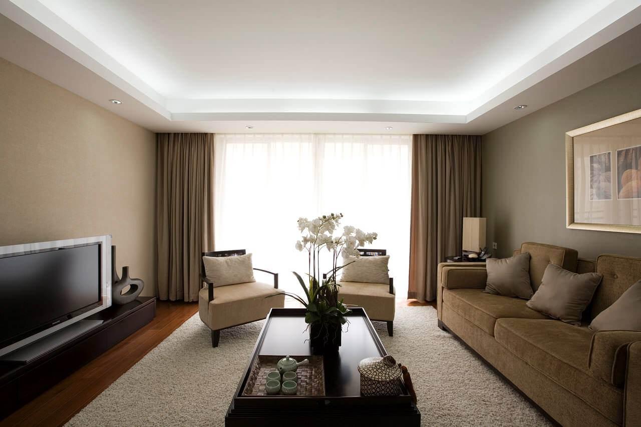 Sanca de gesso aberta para sala de estar