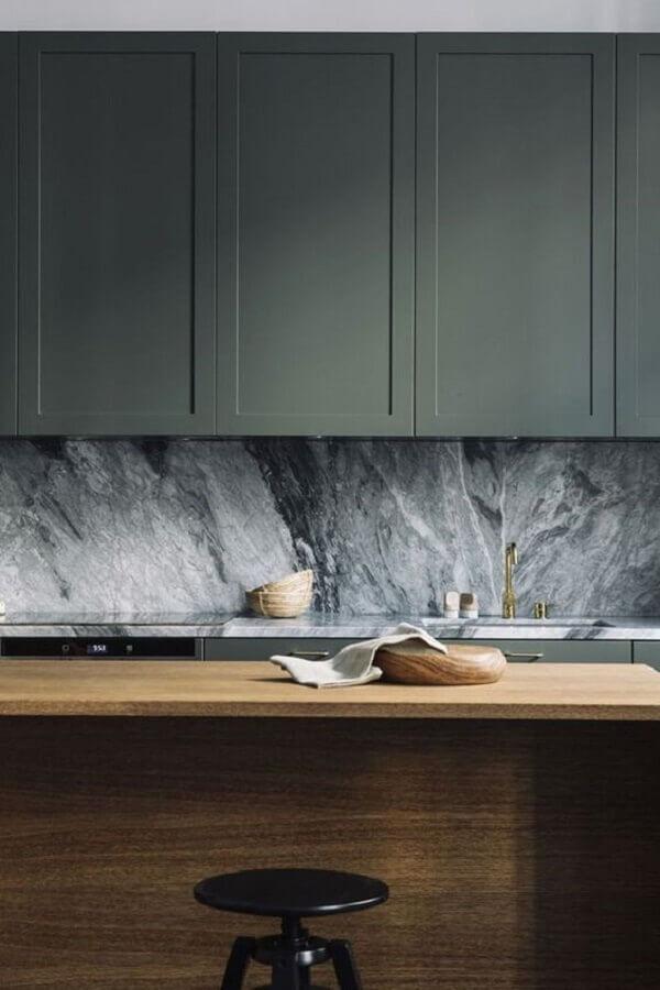 Tipos de mármore para cozinha com bancada de madeira - Pinterest