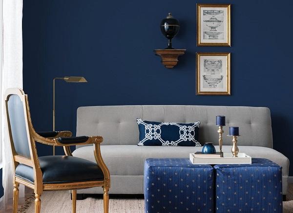 Tons de azul na decoração