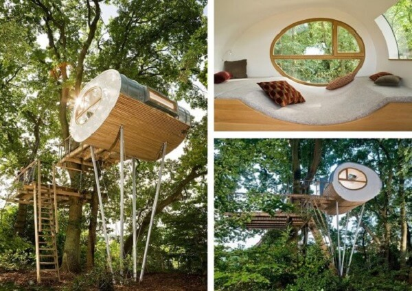 Projeto ousado para casa na árvore