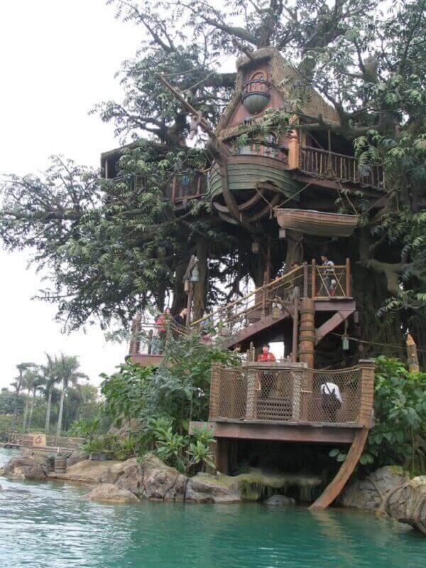Traga mais segurança para a casa na árvore utilizando redes de proteção nas laterais