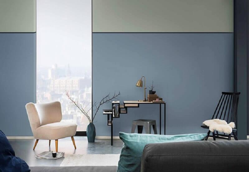 combinação de cores para sala minimalista Foto Amara