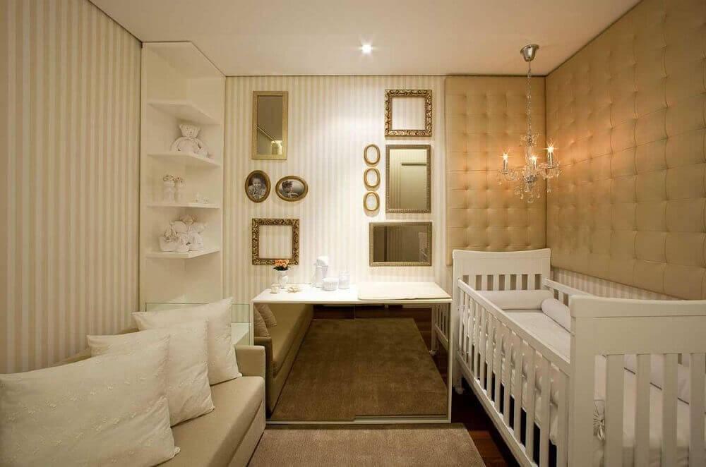 comoda espelhada para quarto de bebê pequeno planejado