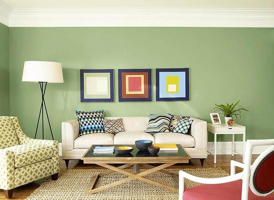 cores de parede para sala com quadros coloridos Foto The Runners Soul