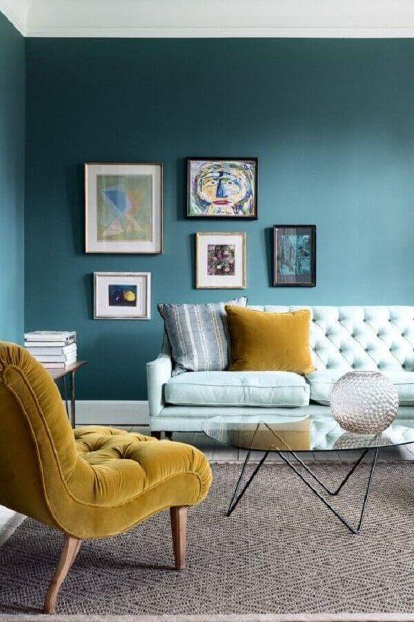 cores de parede para sala com verde escuro Foto Cut & Paste