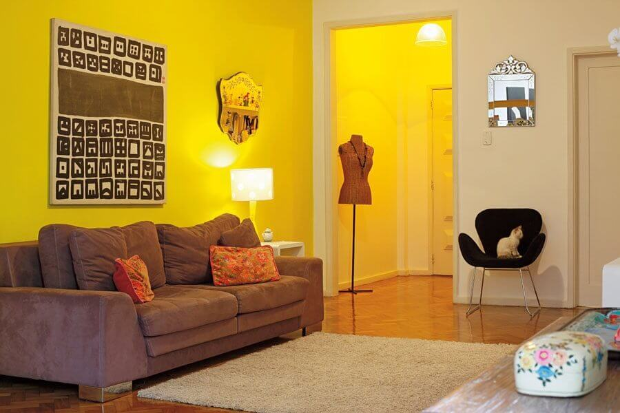 cores de parede para sala simples Foto EFL Furniture