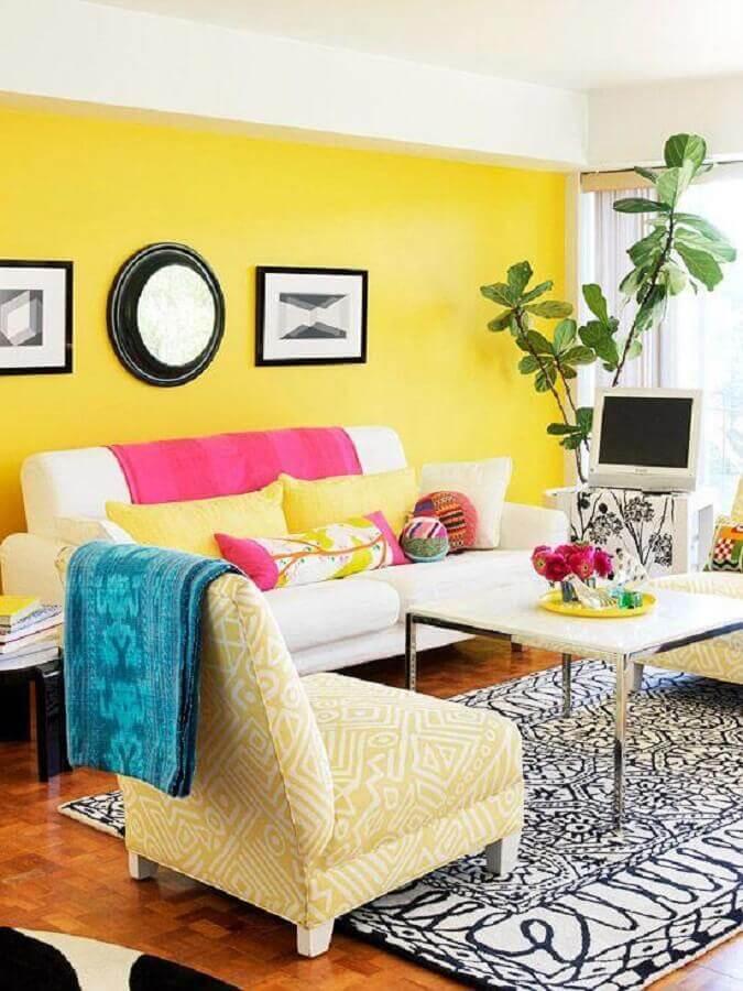 cores de tinta para sala alegre Foto Design d'intérieur