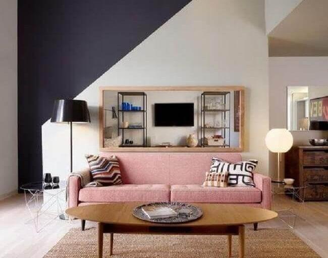 cores de tintas para sala com decoração minimalista  Foto Architizer