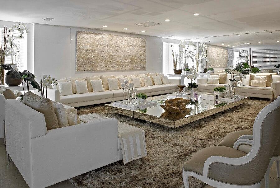 cores para decoração de sala sofisticada Foto Decore News Arquitetura