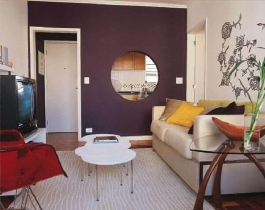 cores para pintar sala pequena Foto Casa e Reforma