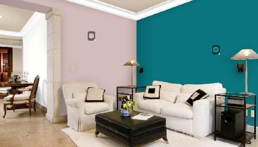 cores para pintar sala pequena e simples Foto Decoração de Casa