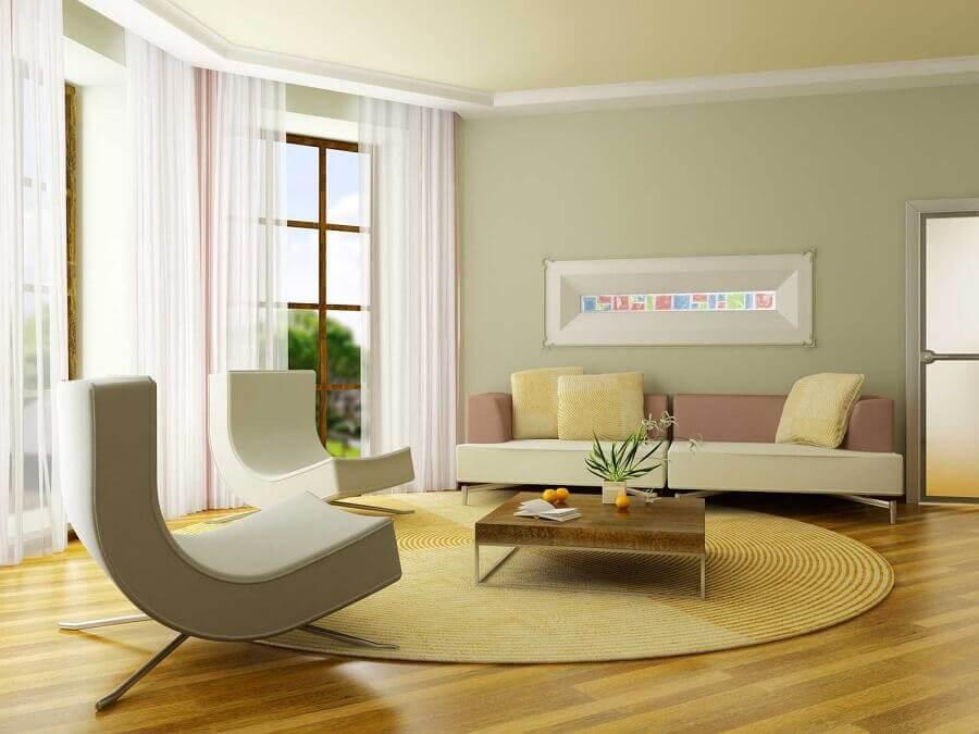 cores para sala com decoração neutra Foto Home Starfin
